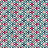 Seamless pattern with butterflies and flowers Royalty Free Stock Image