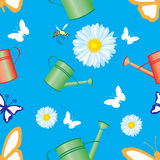Seamless pattern with a background from the garden Royalty Free Stock Photos