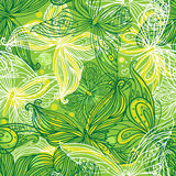 Seamless pattern with butterflies Stock Photos