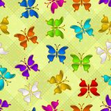 Seamless Pattern, Butterflies Stock Photo