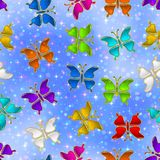 Seamless Pattern, Butterflies Royalty Free Stock Photography