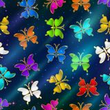 Seamless Pattern, Butterflies Stock Photo