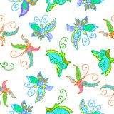 Seamless pattern of butterflies Royalty Free Stock Photography