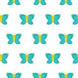 Seamless pattern with butterflies. Perfect for wallpaper, gift paper, pattern fills, web page background, spring and vector illustration