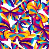 Seamless pattern with butterflies. Colorful bright abstract insects royalty free illustration