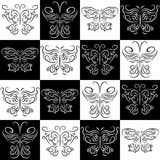 Seamless pattern with butterflies staggered Stock Images