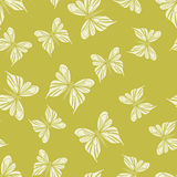 Seamless pattern with butterflies. Summer background. Royalty Free Stock Image