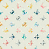 Seamless pattern of butterflies Royalty Free Stock Photos
