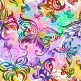Seamless pattern with butterflies. Vector, EPS10 Royalty Free Stock Photography