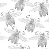 Seamless pattern with Butterflies. Stock Images