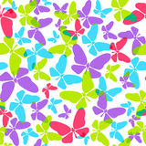 Seamless pattern with butterflies Royalty Free Stock Images