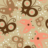 Seamless pattern with butterfly Royalty Free Stock Image