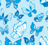 Seamless pattern with butterfly Royalty Free Stock Photos