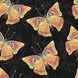 Seamless pattern with butterfly. Royalty Free Stock Photos