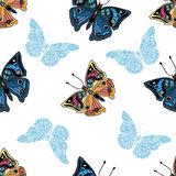 Seamless pattern with butterfly. Royalty Free Stock Photography
