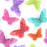 Seamless pattern with butterfly Stock Images