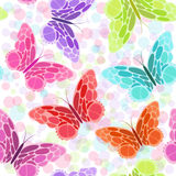 Seamless pattern with butterfly. Different colors abstract butterflies background. Great for web page background, surface textures, textile industry, wrapping stock illustration