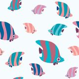Seamless pattern with butterfly fish. Stock Images