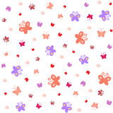 Seamless pattern - butterfly Stock Photography