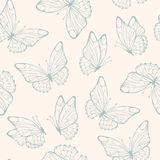 Seamless pattern with butterfly. Retro colors seamless. Royalty Free Stock Images