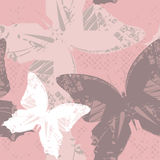 Seamless Pattern with butterfly's Stock Images