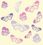 Seamless pattern with butterfly with transparent wings. Stock Photography