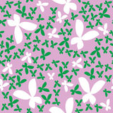 Seamless pattern with butterfly Royalty Free Stock Images