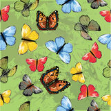 Seamless pattern with butterfly Royalty Free Stock Photography