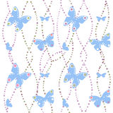 Seamless pattern with butterfly Stock Photo