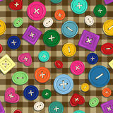 Seamless pattern of buttons Stock Photo
