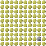 Seamless pattern of buttons emoticons. Yellow buttons smileys and one black button on a white background Stock Photo
