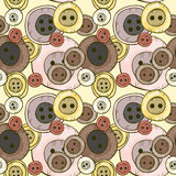 Seamless pattern with buttons Stock Photos