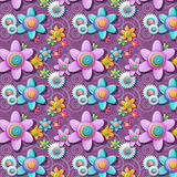 A seamless pattern of buttons in the shape of flowers Royalty Free Stock Photography