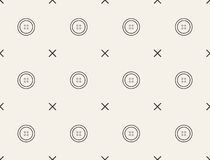 Seamless pattern with buttons, vector, tailoring. Royalty Free Stock Photos