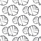 Seamless pattern of cabbages Royalty Free Stock Images