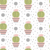 Seamless pattern of cacti. Royalty Free Stock Images