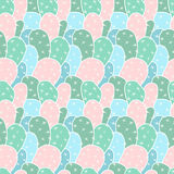 Seamless pattern with cactus Stock Photos