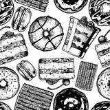Seamless pattern with cake Royalty Free Stock Photography