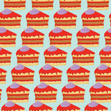 Seamless pattern with cakes Royalty Free Stock Photo