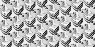Seamless pattern with cakes. Seamless pattern with pieces of cakes stock illustration