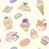 Seamless pattern of cakes Royalty Free Stock Photo