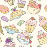 Seamless pattern of cakes Royalty Free Stock Image