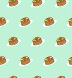 Seamless pattern of cakes. Royalty Free Stock Image