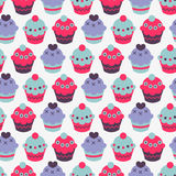 Seamless pattern with cakes Stock Photo