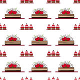 Seamless pattern with cakes. vector Royalty Free Stock Image