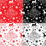 Seamless pattern with calligraphic text A Very Merry Christmas Royalty Free Stock Image