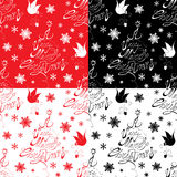 Seamless pattern with calligraphic text A Very Merry Christmas Stock Photography