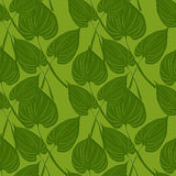 Seamless pattern with calls leaves Royalty Free Stock Photography