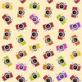 Seamless pattern with camera. vector illustration Royalty Free Stock Image