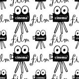 Seamless pattern with cameras Royalty Free Stock Image